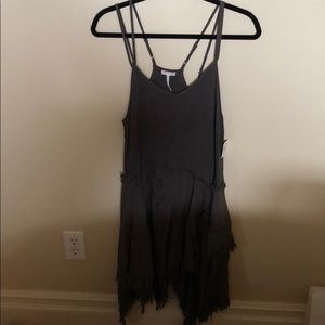 Free people dress with frayed detailing